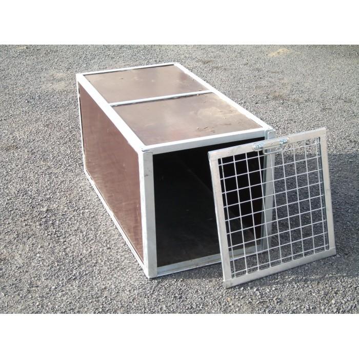 Cage de transport pour chien avec grille de face