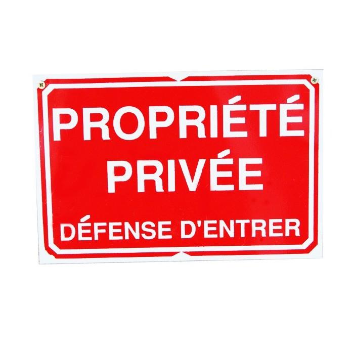 Pancarte : Propriété Privée