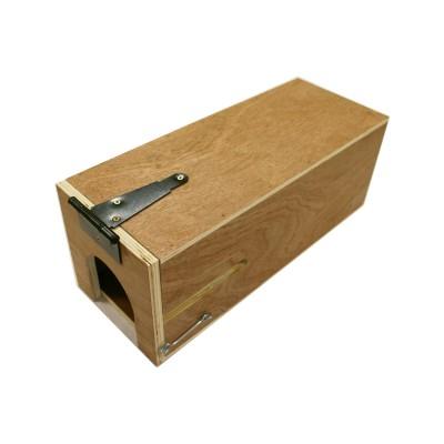 Boîte à pièges en X ou conibears avec un piège