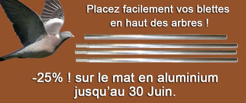 Promo mât en aluminium