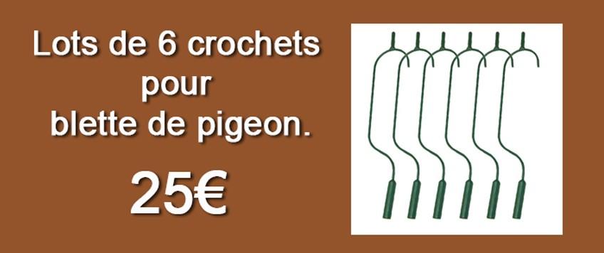 Crochets pour pigeon